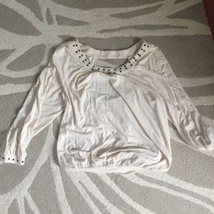Ella Moss studded jersey blouse